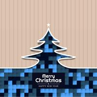 Abstract Merry Christmas celebration background design