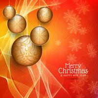 Abstract Merry Christmas stylish decorative background
