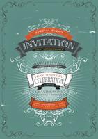 Fond d'affiche Invitation Vintage