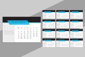 ren blå 2019 kalendermall