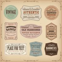 Vintage And Old-Fashioned Labels Ans Signs