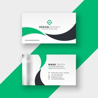 professional elegant green business card design