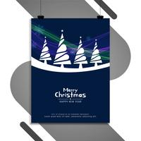 Abstract Merry Christmas colorful brochure template