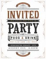 Vintage Party Invitation Sign
