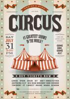 Vintage Grunge Circus Poster vector
