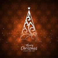 Abstract decorative elegant Merry Christmas background