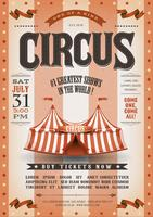 Vintage Grunge Striped Circus Poster vector
