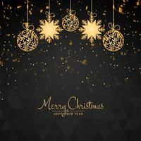 Abstract Merry Christmas beautiful decorative background