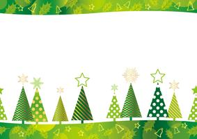 Christmas seamless forest background. vector