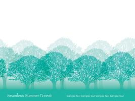 Seamless forest in summer colors with text space.