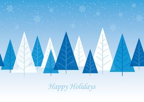 Seamless winter forest background. vector