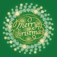 Merry Christmas text design, vector illustration.