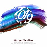 Abstract Happy new year 2019 celebration background