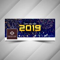 Neues Jahr 2019 stilvolle Social Media-Banner-Design