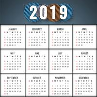 Abstract elegant New Year 2019 calender background