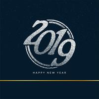 Gelukkig nieuw jaar 2019 stijlvolle groet achtergrond