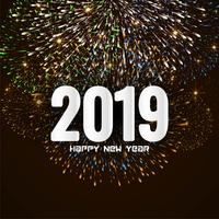 Happy new year 2019 stylish greeting background