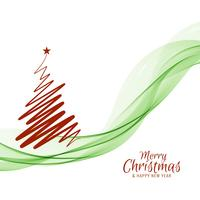 Abstract Merry Christmas background with tree design