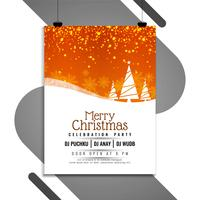 Abstract Merry Christmas celebration modern flyer design