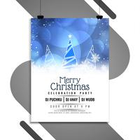 Abstract Merry Christmas celebration flyer template