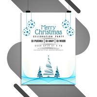 Abstrakt Merry Christmas Celebration Flyer Template