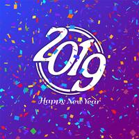 Abstrait joyeux nouvel an 2019 célébration