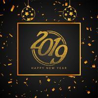 Feliz año nuevo 2019 colorido fondo decorativo