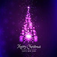 Merry Christmas beautiful background with tree design