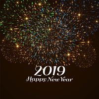 Felice anno nuovo sfondo decorativo colorato 2019