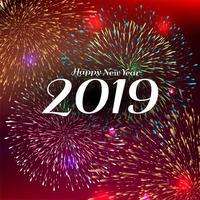 Abstrakter guten Rutsch ins Neue Jahr-Feierhintergrund 2019