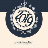 Happy new year 2019 colorful decorative background vector