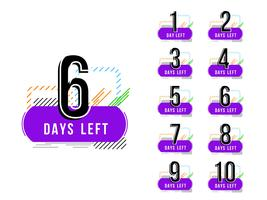 Abstract days left sign fundo de design moderno