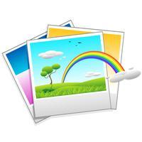 Polaroid foto de paisaje