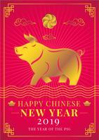 Idea de cerdo de año nuevo chino