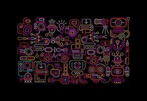 Foto apparatuur neon vectorillustratie
