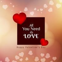 Abstrakter schöner glücklicher Valentinstaghintergrund