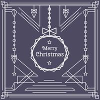 Linear Christmas Card Vector