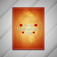 Abstract Happy Valentine's Day lovely brochure design presentati