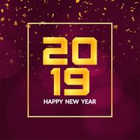 Abstract Happy new year 2019 background design