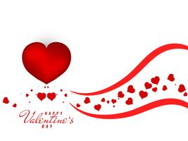Abstrakter reizender glücklicher Valentinstaghintergrund