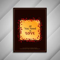 Presentazione di progettazione del crad di saluto di San Valentino astratto felice