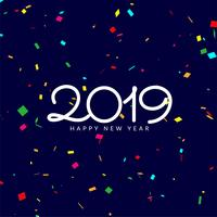 Modern new year 2019 celebration background