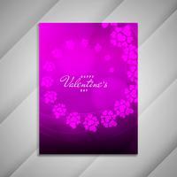 Resumen feliz día de San Valentín elegante folleto diseño presentat