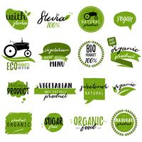 Stickers and badges for organic food and drink