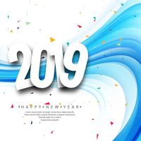 Beautiful Happy New Year 2019 text background