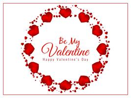 Abstract Happy Valentine's Day lovely background vector