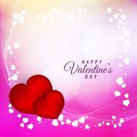 De Dag mooie achtergrond van abstracte Gelukkige Valentijnskaart