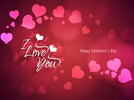 Abstract Happy Valentine's Day greeting background vector
