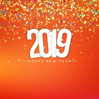 Happy new year 2019 elegant decorative background