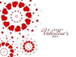 Astratto di auguri di San Valentino felice